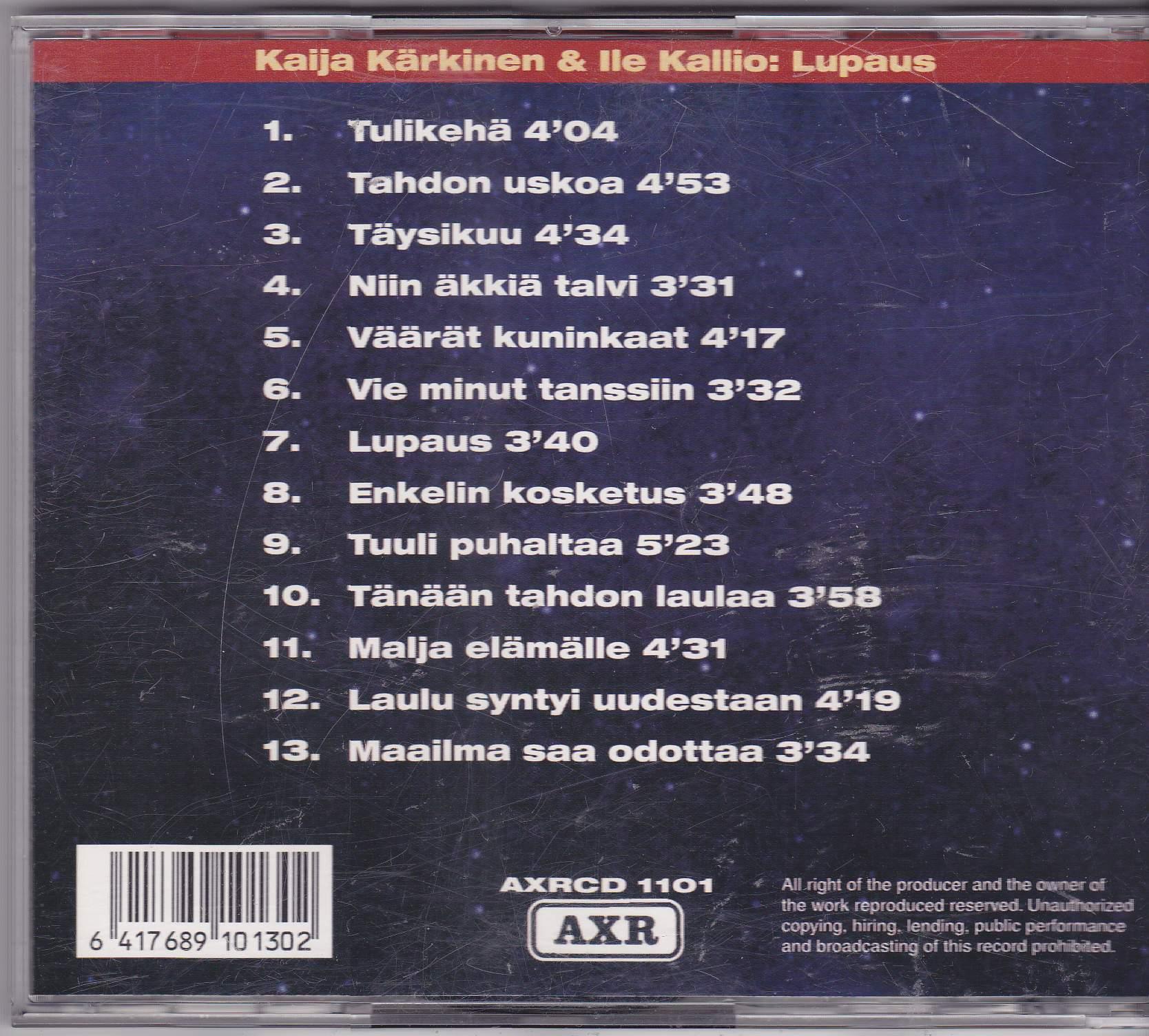 Kaija Kärkinen & Ile Kallio - Unohtaa Voin